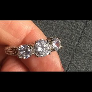 3 Stone Crystal Ring
